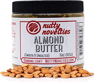 product image for Nutty Novelties Classic Almond Butter - High Protein, Sweet Almond Butter - No Added Sugar - All-Natural, Pure Almond Butter Free of Cholesterol & Preservatives - Vegan Almond Butter - 15 Ounces