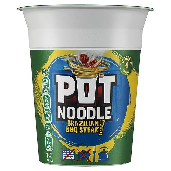 Pot Noodle King pollo y setas Flavour: Amazon.es: Alimentación y ...