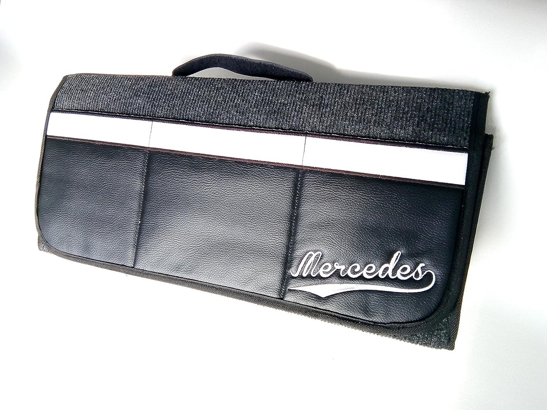Mercedes organizer per bagagliaio con velcro 50 x 25 cm similpelle con 3 tasche anteriori non OEM