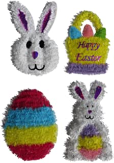 Brite Star 96-424-00 Small Easter Chick with Egg Tinsel Frame Yellow