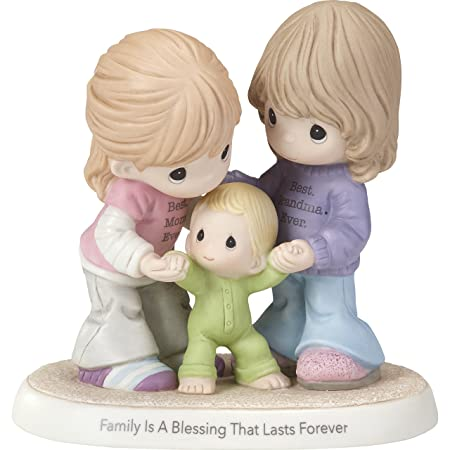 Precious Moments Family is A Blessing That Lasts Forever Mom Grandma with Baby Bisque Porcelain Home Decor Collectible Figurine 173009