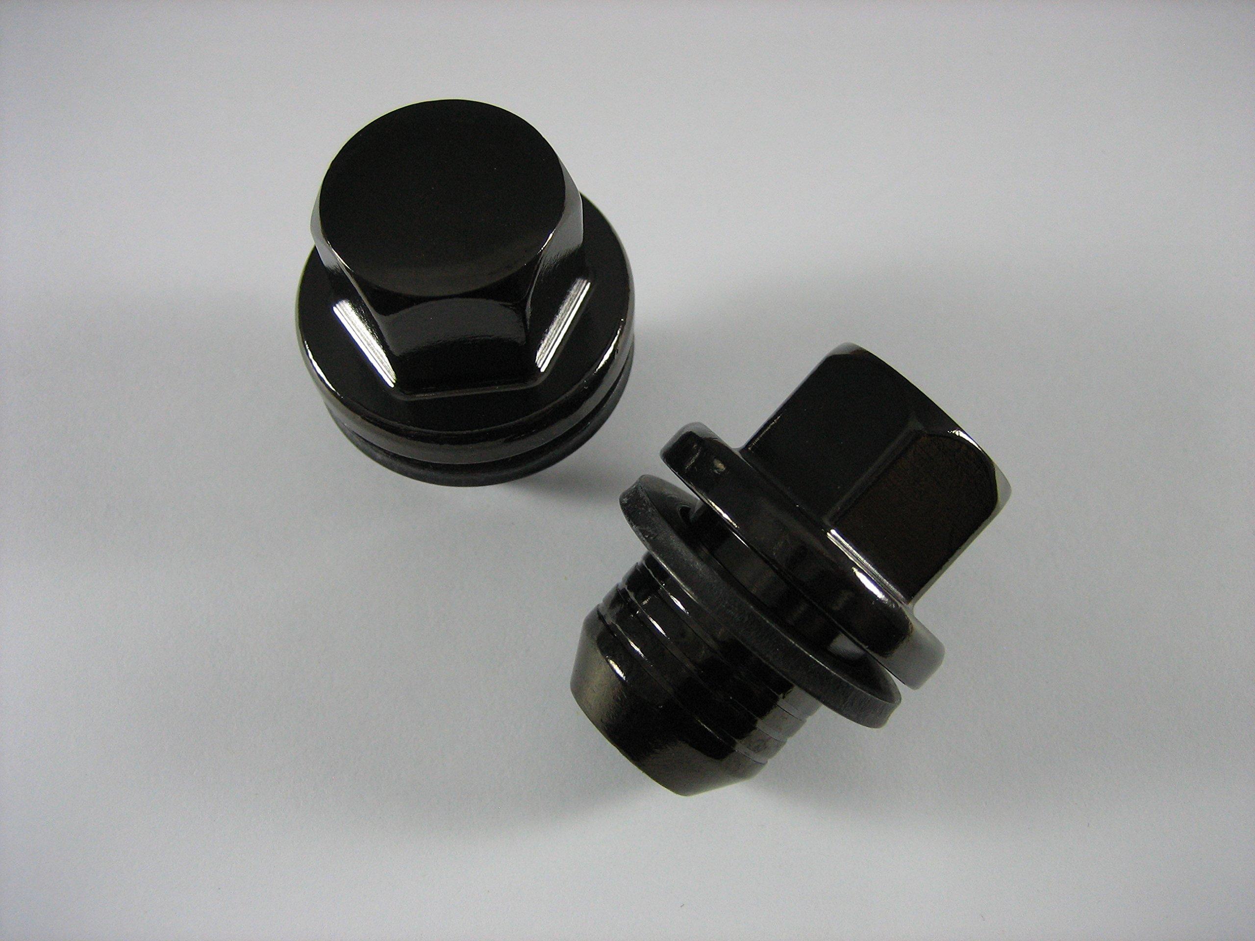 Genuine Land Rover Gloss Black Wheel Lug Nut Set for LR3 LR4 Range Rover and Sport