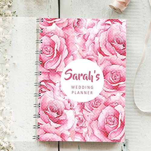 personalised wedding planner large rose 4 year diary bride to be