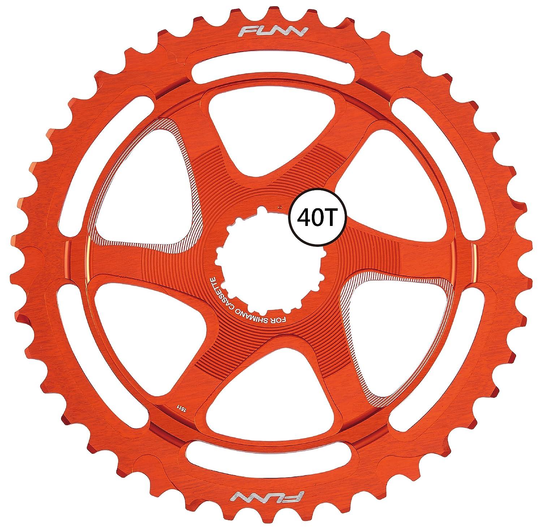Funnクリンチ拡張子Cog 40t (for Shimano SPD 10 ) B076PBNVHTオレンジ
