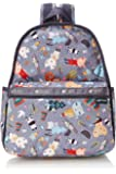 Lesportsac 女式 Donna WilsonBASIC BACKPACK双肩背包 7812G372 灰色/白色/红色 381 * 317.5 * 190.5mm