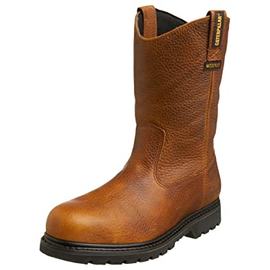 Caterpillar Men's Edgework Pull-On Waterproof Steel Boot,Mahogany,7 ...
