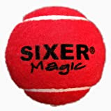 Sixer Magic Cricket Tennis Balls , Pack of 6 (Red)