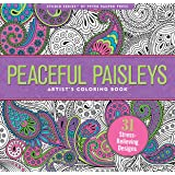 Peaceful Paisleys Adult Coloring Book (31 stress-relieving designs) (Studio)