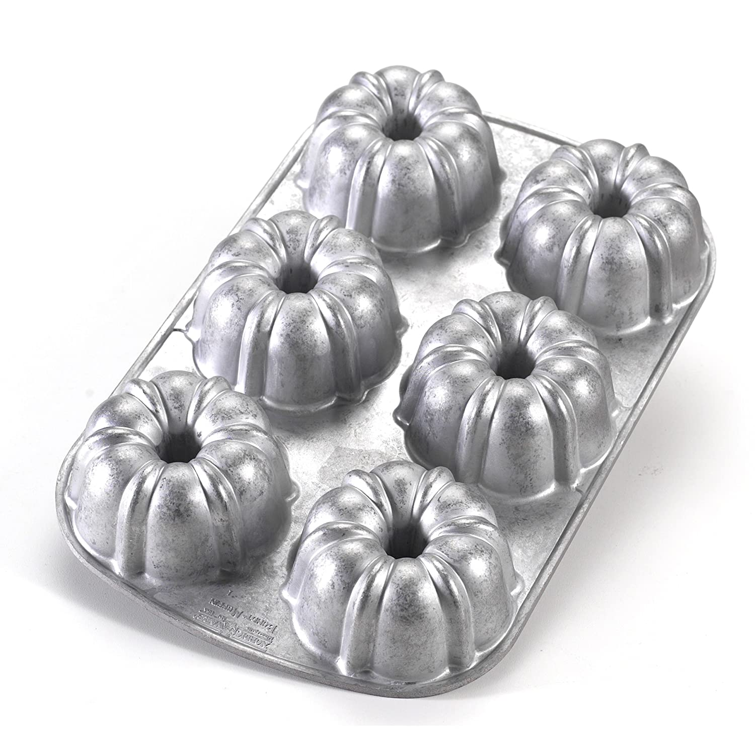 Bundt cake pans for sale - Amazon Com Nordic Ware Commercial Original Bundt Muffin Pan With Premium Non Stick Coating 6 Cavity Kitchen Dining