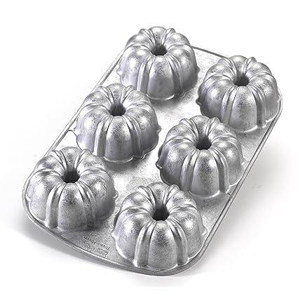 Nordic Ware Commercial Original Bundt Muffin Pan with Premium Non-Stick Coating 6-Cavity