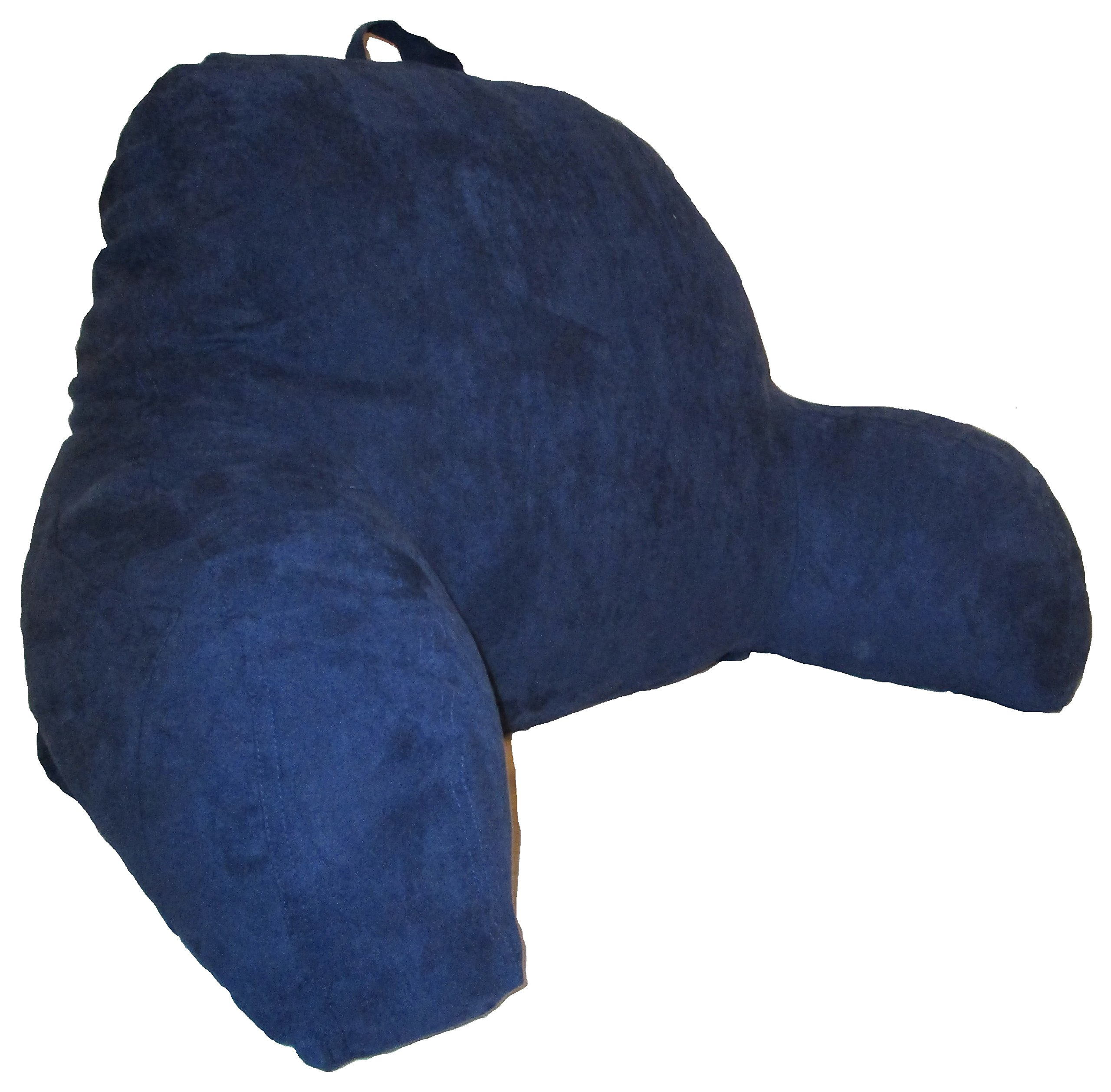D&M Bedding Microsuede Bedrest Pillow - Navy