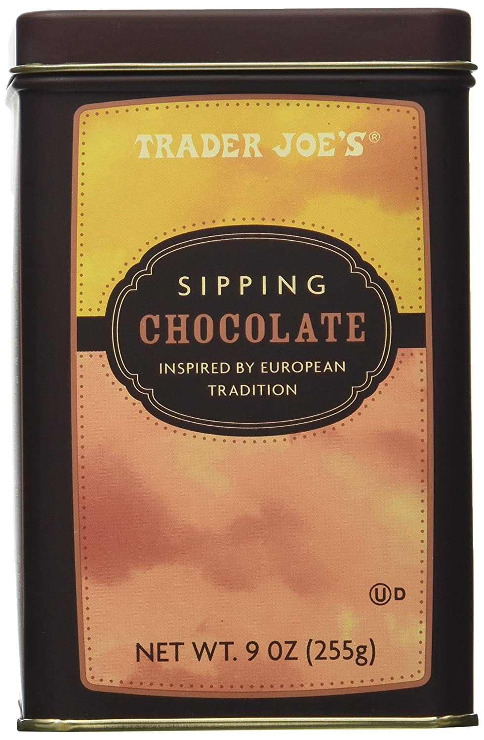 Trader Joe's Sipping Chocolate Inspired By European Tradition Decadent Chocolate Elixir Great for the Festive Season Net Wt. 9 oz.