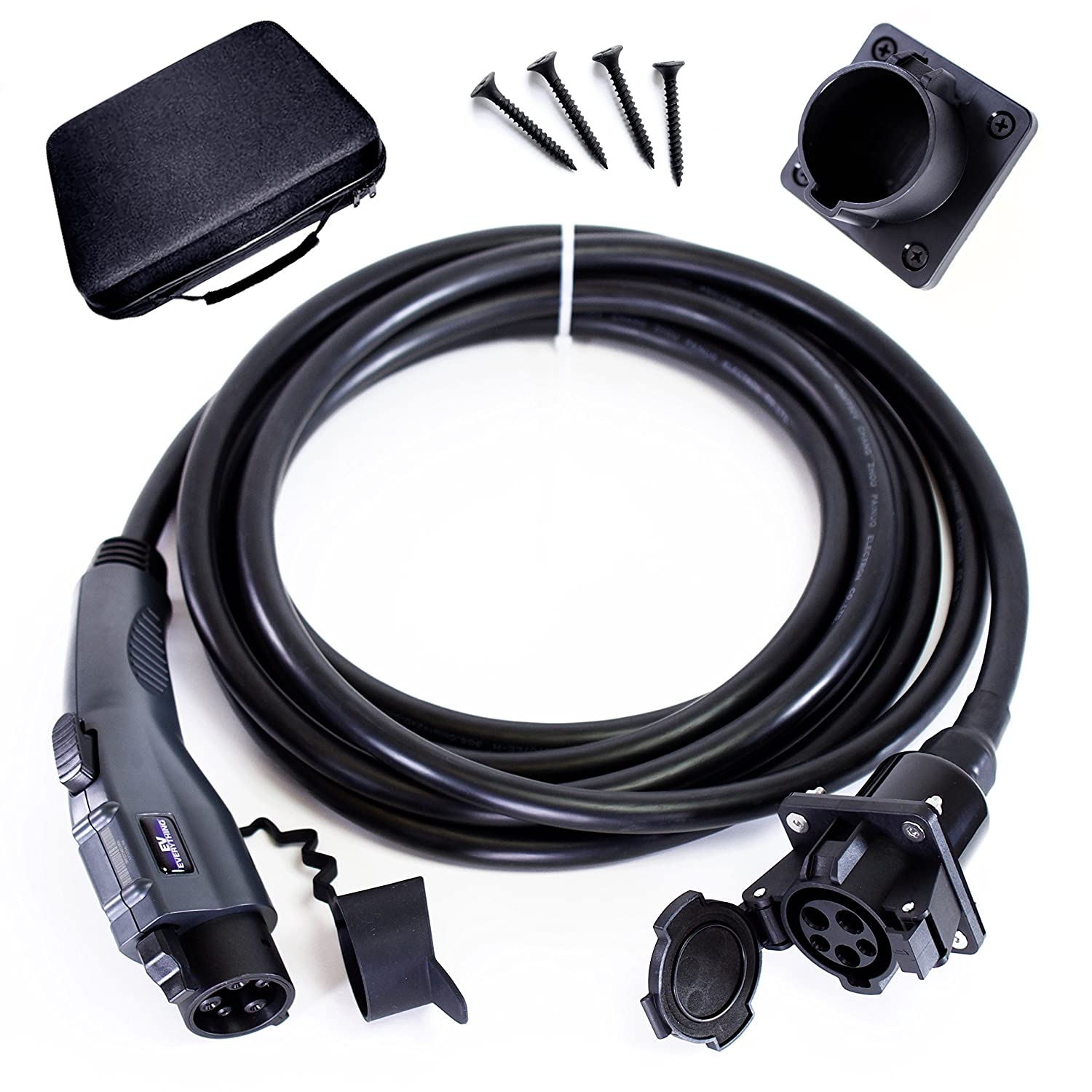 EV Everything 20 ft Extension Cord J1772 Cable 32 amp Electric Vehicle Charging + FREE Holster Dock Uchen 4336330424