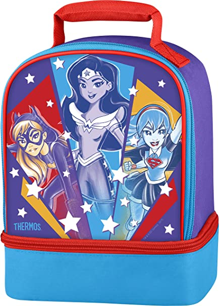 Amazon.com  Thermos Dual Lunch Kit, DC Super Hero Girls  Kitchen ... a7a1e208a8