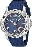 Nautica - NAI13504G - Montre Homme - Quartz Analogique - Cadran Noir - Bracelet Silicone Noir