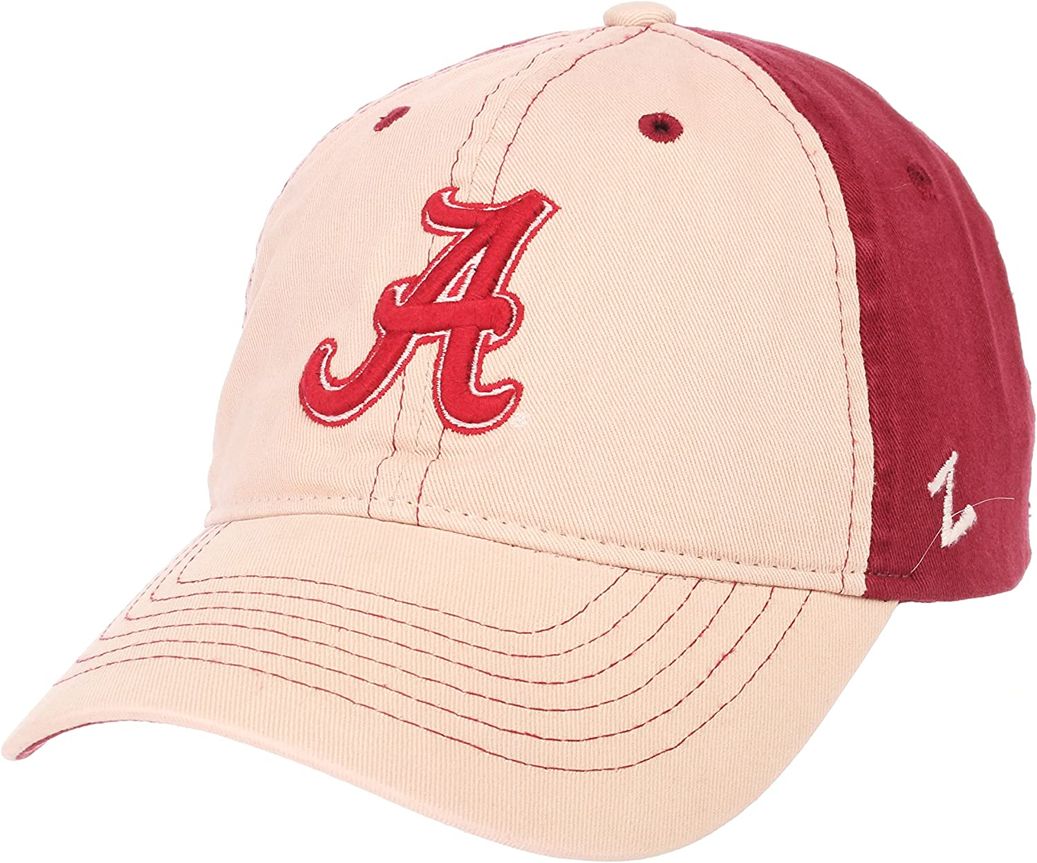 Adjustable NCAA Zephyr Alabama Crimson Tide mens Moab Relaxed Hat Stone//Team Color