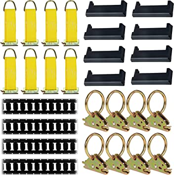 | Strap x 24 H Hooks Other E-Track Accessories Storage Bag for Truck Etrack Carrying Bag with Mytee Logo 14 Trailer W E-Track Spring Fitting for Horizontal//Vertical