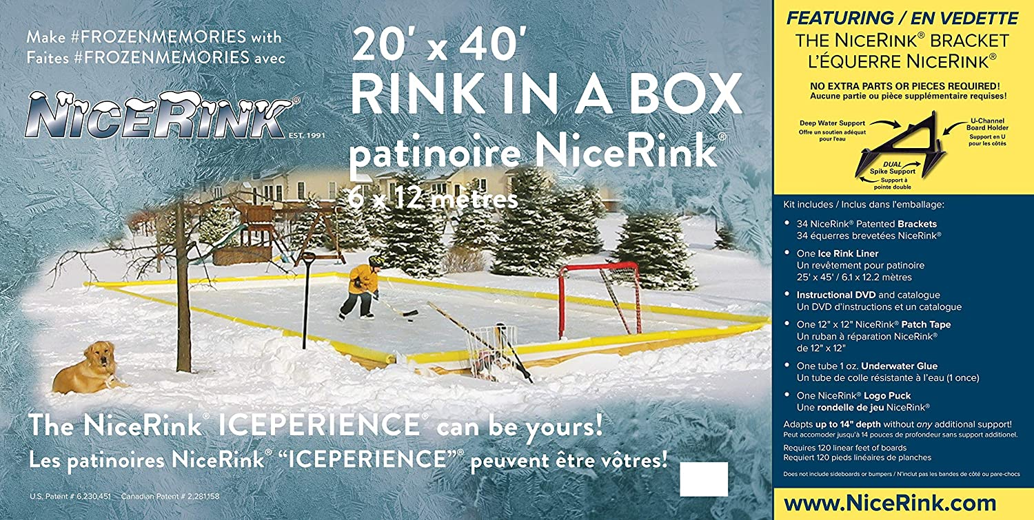 NiceRink 20x40 Backyard Ice Rink