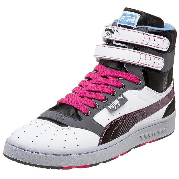 Puma Men's Sky II Island Hi Sneaker, White/Grey/Black, 17 D: Buy