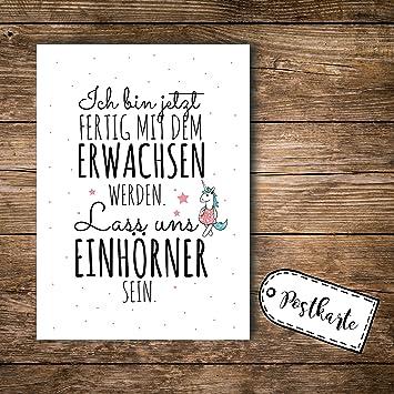 Ilka Parey Wandtattoo Welt A6 Postkarte Print Mit Spruch Ich Bin