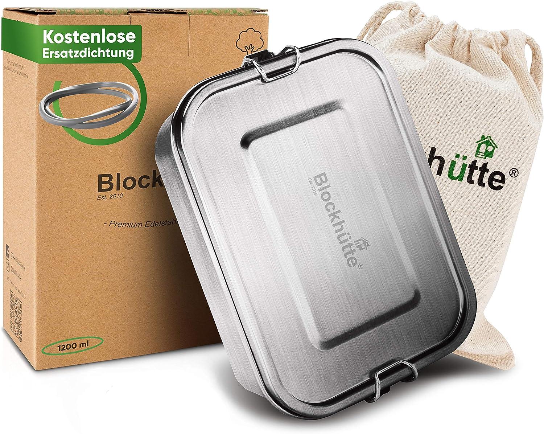 Blockhütte Premium Edelstahl Brotdose 1200ml