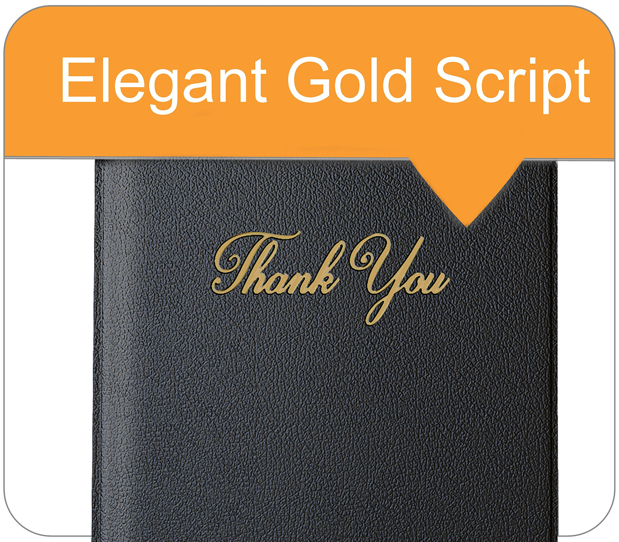 Guest Check Card Holder - Presenter with Gold Thank You Imprint - 5.5'' x 10'' (Standard, Black_20_Pack, 20) by Gold Lion Gear (Image #6)