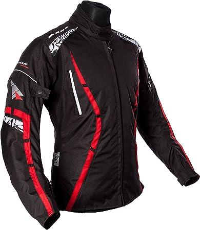 L Amarillo Ne/ón Roleff Racewear Tur/ín Chaqueta de Motocicleta