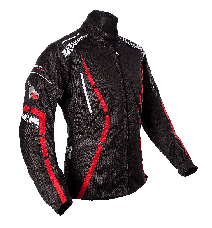 Rot Roleff Racewear Motorradjacke Zelina Gr/ö/ße M