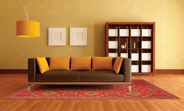 Fab Hab - Lhasa - Orange & Violett - Teppich/ Matte für den Innen- und Außenbereich (150 cm x 240 cm)