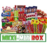 Mexi-Mix Box Mexican Candy Assortment. 78 Count Candy Care Package Variety of Spicy Candy Box Gift Bulk Dulces Mexicanos Snack Include: Obleas Duvalin Lucas Vero Mango Pulparindo Pelon Pelo Rico