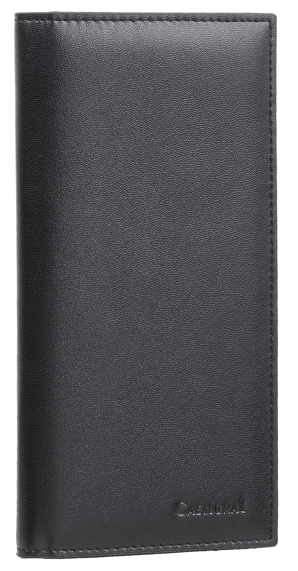 Checkbook Holder Check Book Covers For Duplicate Checks Card Wallet RFID Genuine Leather Checkbook Cover For Women /& Men