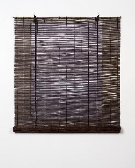 Estores Basic, persianas de bambu, Wengué, 150x170cm, estores para ventana, persianas de bambu.: Amazon.es: Hogar