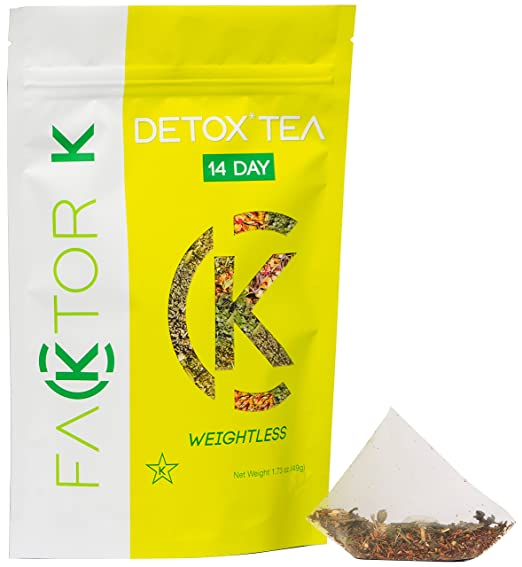 KETO and Kosher 14 Day Natural Detox Tea Herbal Supplement (14 Bags) Healthy Weight Loss & Belly Fat Burning Support
