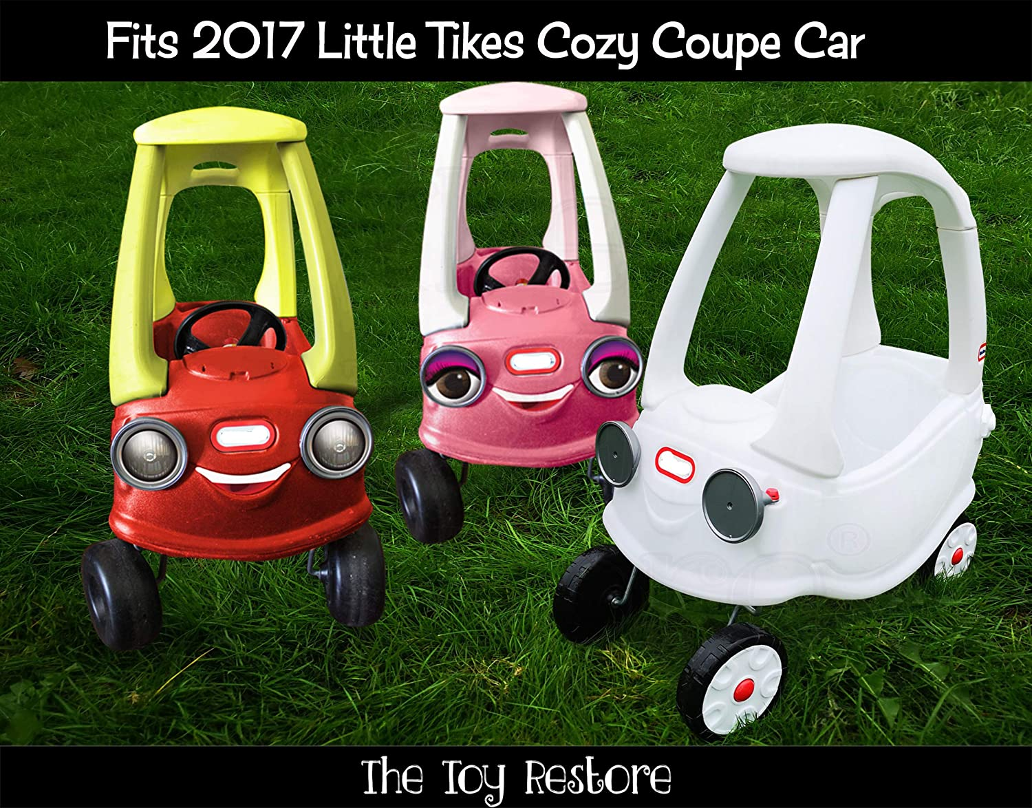 Amazon Com The Toy Restore Black Gold Police Door Logos And 911 And Light Decals Fits Little Tikes Cozy Coupe Toys Games [ 1174 x 1500 Pixel ]