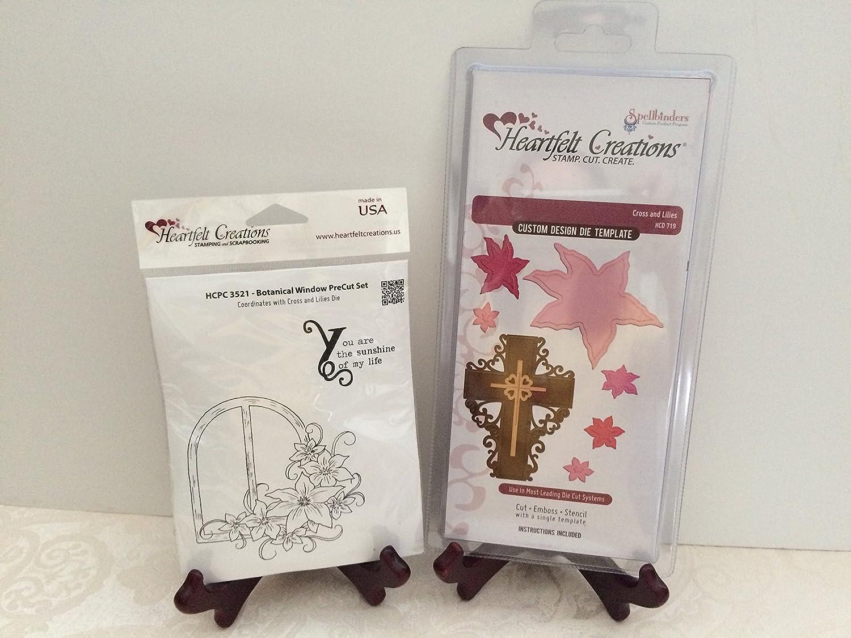 Amazon com: Heartfelt Creation Bundle Die+Stamp Set, Cross & Lily+