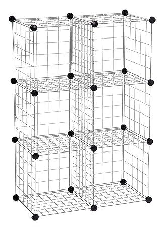 Honey Can Do SHF 01794 Modular Mesh Storage Cube, 6 Pack