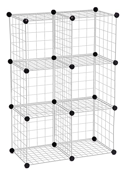 Attrayant Honey Can Do SHF 01794 Modular Mesh Storage Cube, 6 Pack