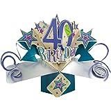 Second Nature 3D Grußkarte - 40th Birthday