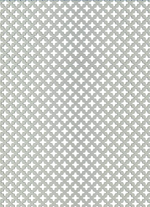 RV 6-9 diam/ètre des perforations /Ø 6/mm B/&T Metall T/ôle perfor/ée aluminium 1,5/mm d/épaisseur
