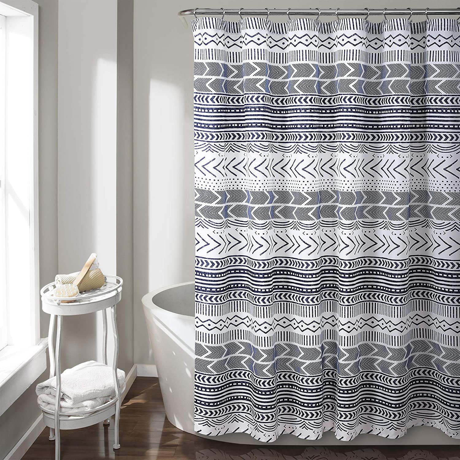 Lush Decor Hygge Geo Shower Curtain, 72