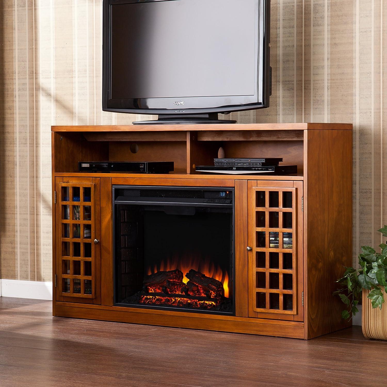 amazon com sei narita media console with electric fireplace