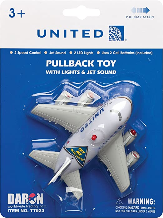 Toytech TT86399-1 United Airlines Keychain with Light and Sound Post Continental
