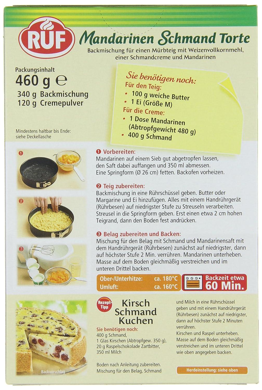 Ruf Mandarinen Schmand Torte 8er Pack 8 X 460 G Amazon De