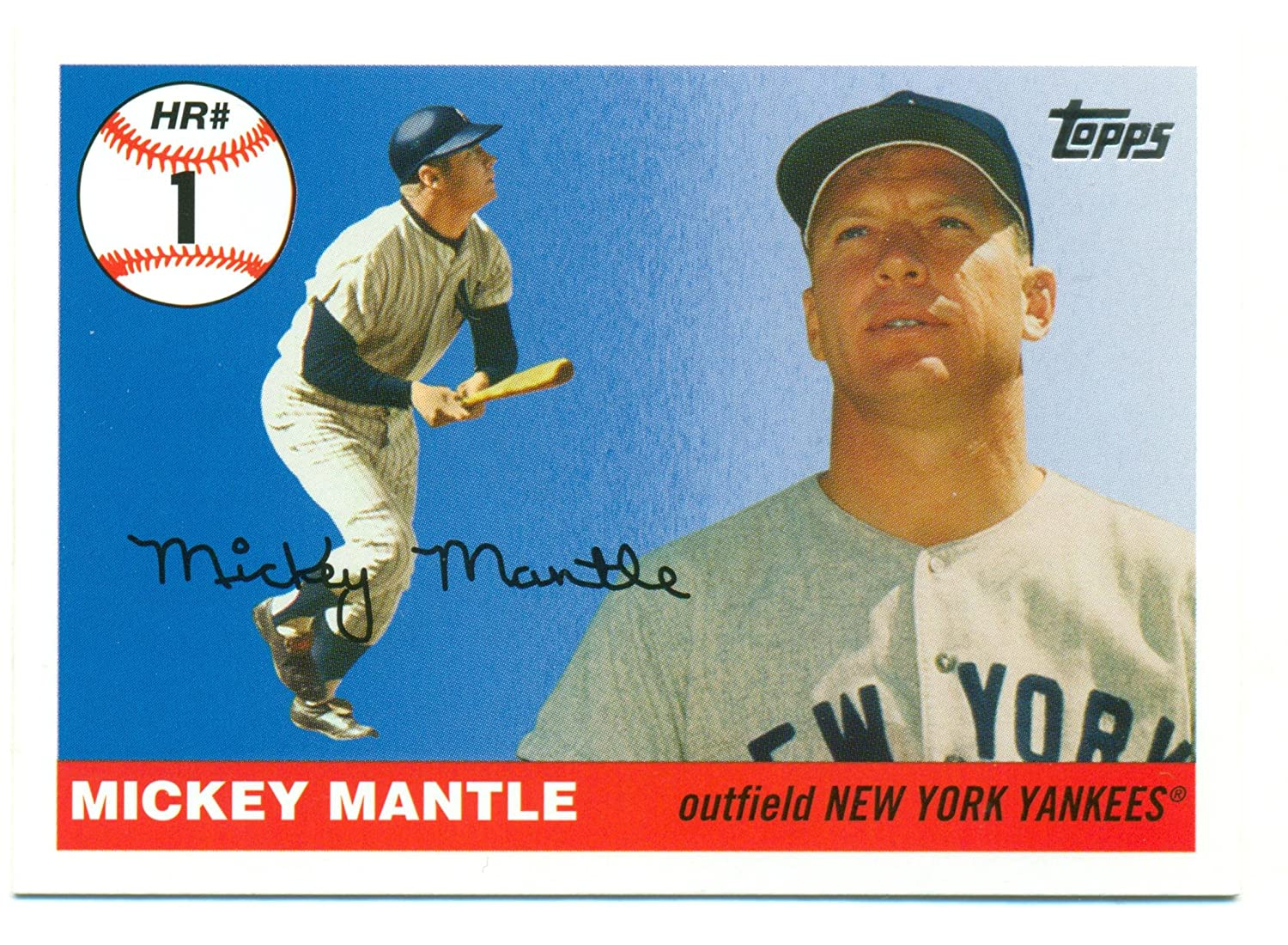 046a3576b29 Lot of 5 2006 Topps Mickey Mantle Home Run History  MHR1 - New York Yankees  - Baseball Card at Amazon s Sports Collectibles Store