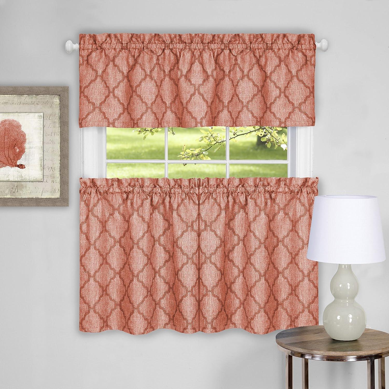 Blue 58 x 14 Achim Home Furnishings Colby Window Curtain Valance