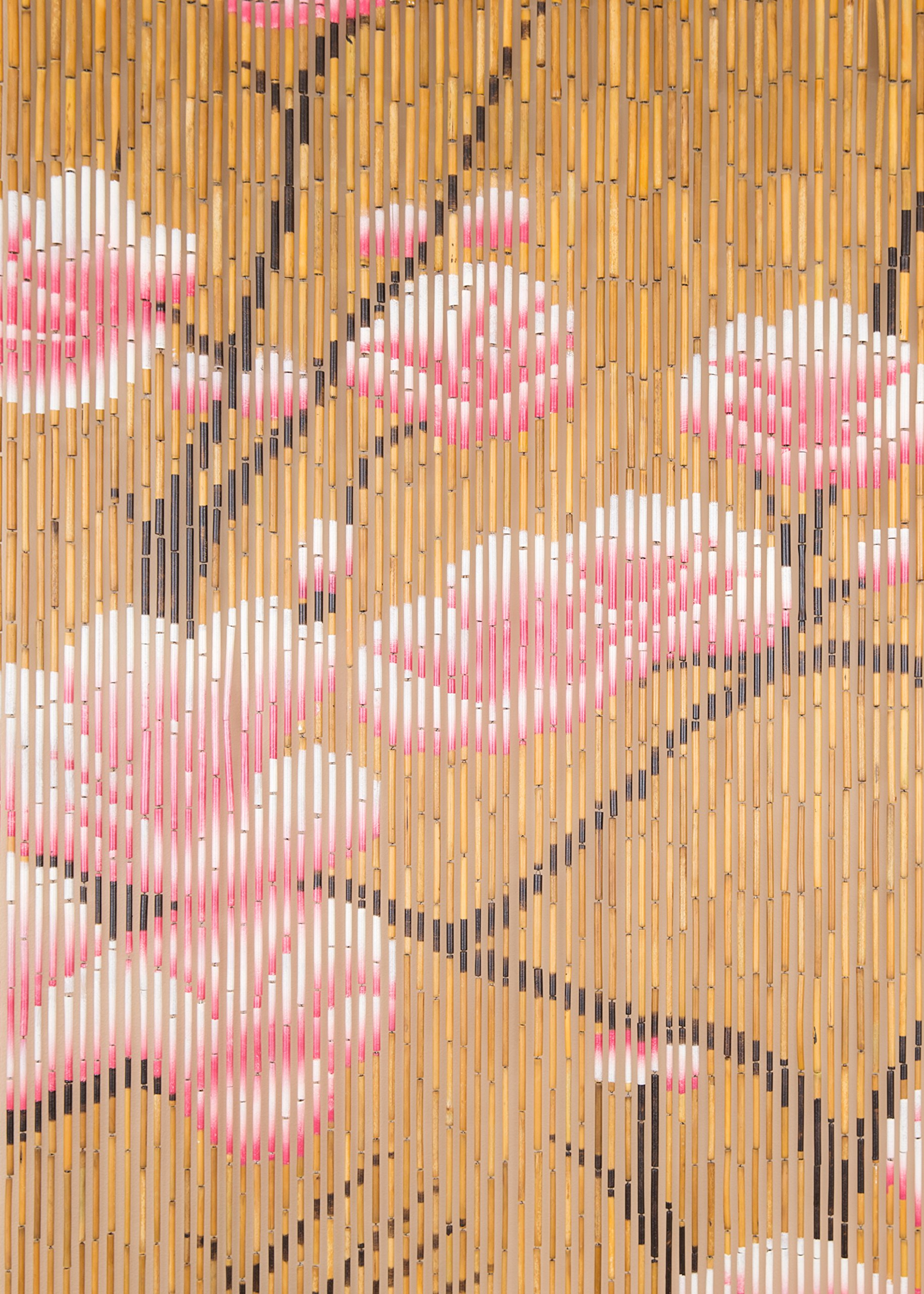 BeadedString Natural Bamboo Wood Beaded Curtain-90 Starnds-80 High-Boho Door Beads-Bohemian Doorway Curtain-35.5'' Wx80 H-Blossom by BeadedString (Image #8)