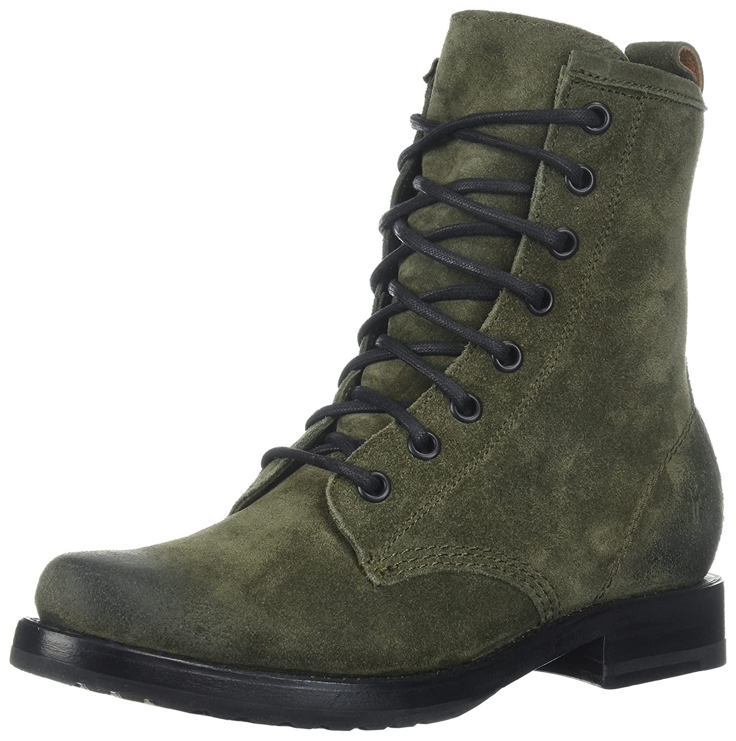 FRYE Women's Veronica Combat Boot B01NBR26A9 6.5 B(M) US|Forest Soft Oiled Suede