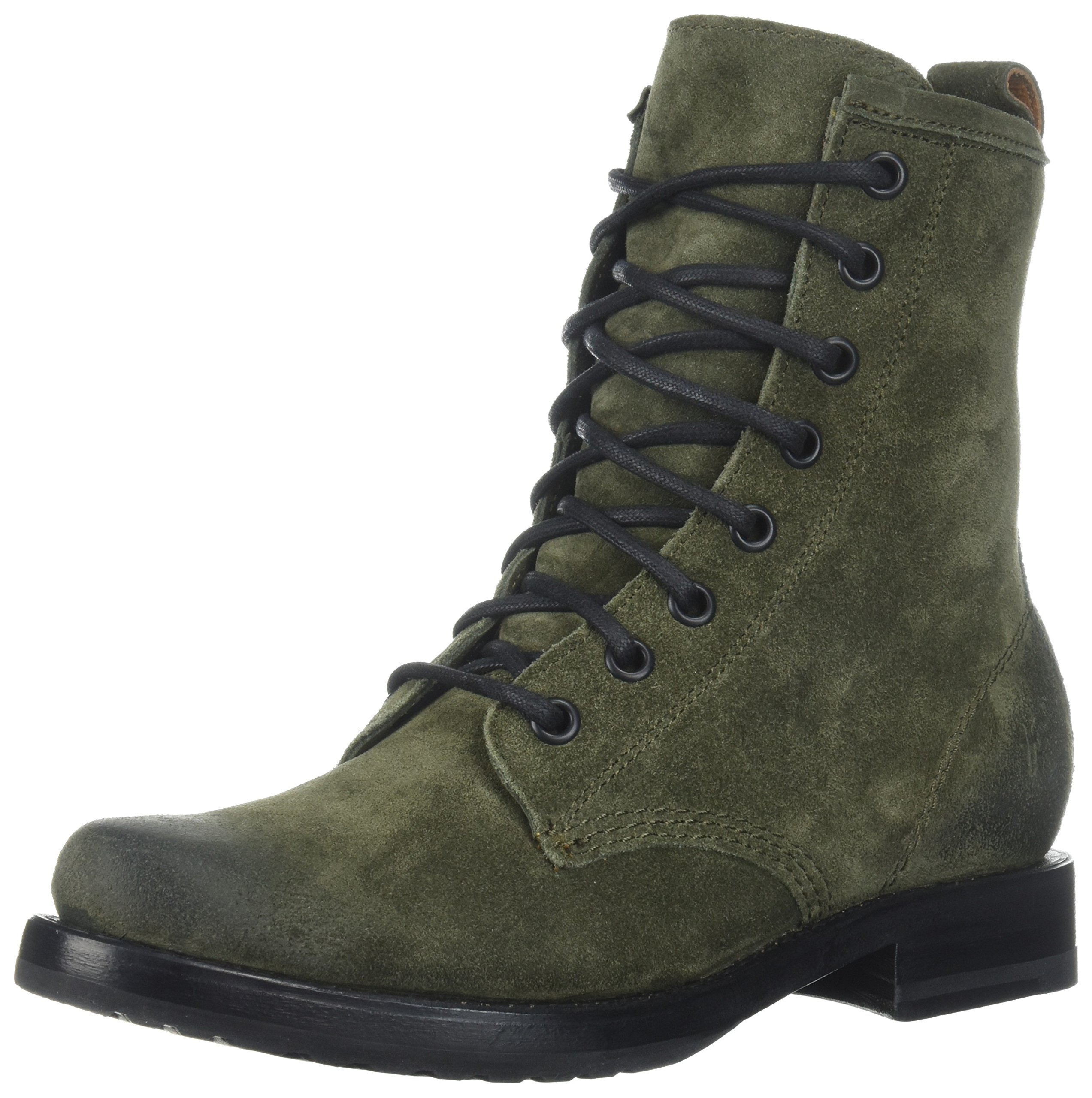 FRYE Women's Veronica Combat Boot, Forest Soft Oiled Suede, 8.5 M US