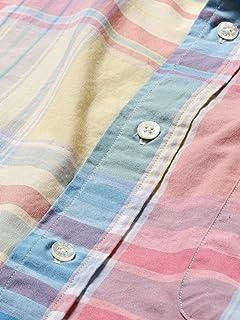Big Check Buttondown Shirt 11-11-5196-139: Saxe / Yellow