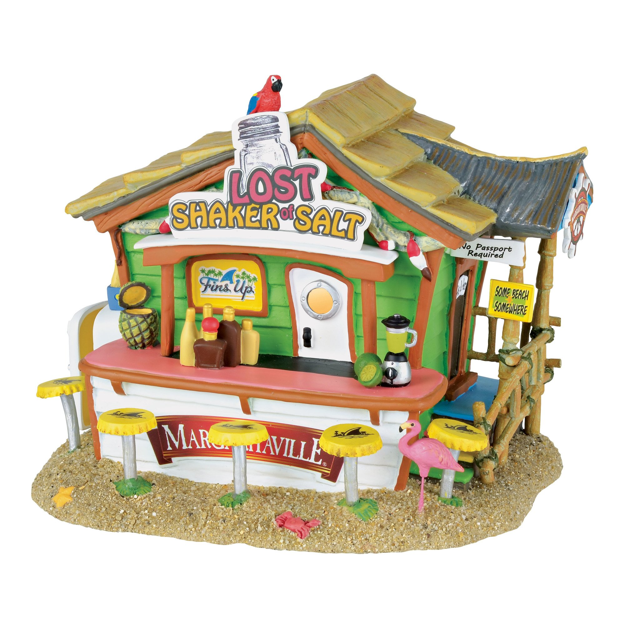 Department 56 Margaritaville Lost Shaker of Salt Bar Musical Village Lit Building, Multicolored